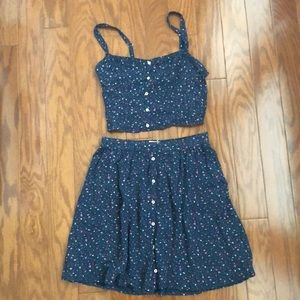 A&F Floral 🌸 2 Piece Top and Skirt